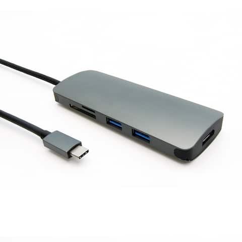 Fuji Labs USB 3.1 Type-C 6-in-1 Hub Adapter, to 2 USB