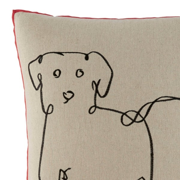 Ellen DeGeneres Dog Throw Pillow