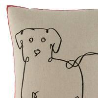Ellen DeGeneres Dog Throw Pillow
