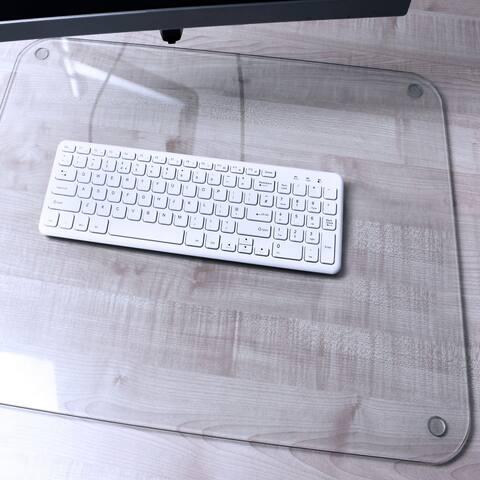 "Desktex Glaciermat Protective Glass Desk Pad Rectangular Size 20"" x 36"" - 20 x 36"