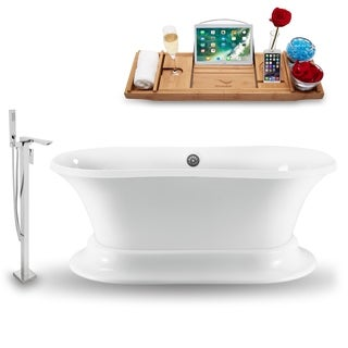 """Tub, Faucet and Tray Set Streamline 60""""  Freestanding NH1140CH-140"""