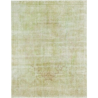 Hand Knotted Ultra Vintage Wool Area Rug - 9' 3 x 12'