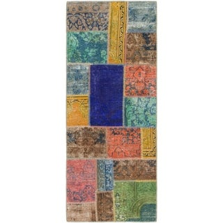 Hand Knotted Ultra Vintage Wool Runner Rug - 2' 8 x 6' 9