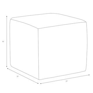 Skyline Furniture Cube Ottoman in Linen