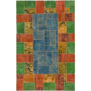 Hand Knotted Ultra Vintage Wool Area Rug - 6' 8 x 10' 3