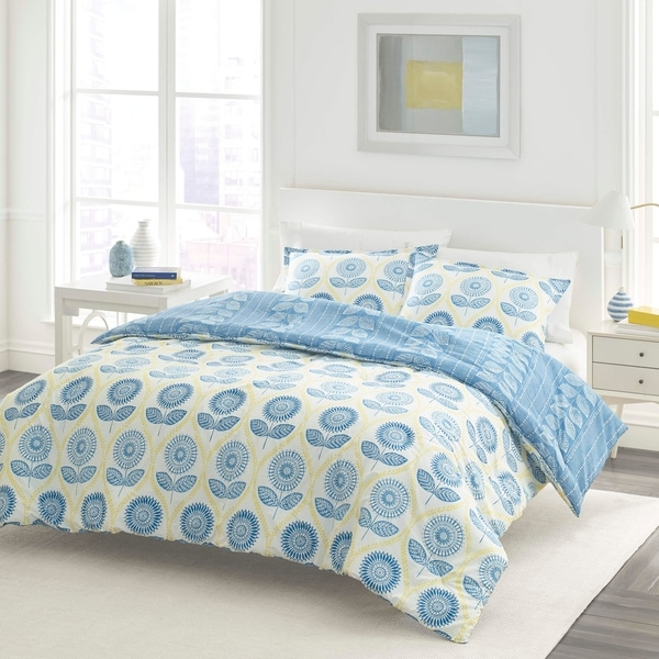 Laura Ashley Sunflower Blue Duvet Cover Set