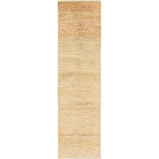Hand Knotted Ultra Vintage Wool Runner Rug - 2' 7 x 9' 4