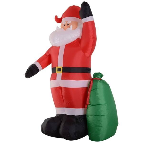 Shop Homcom 8ft Outdoor Santa Claus Christmas Holiday