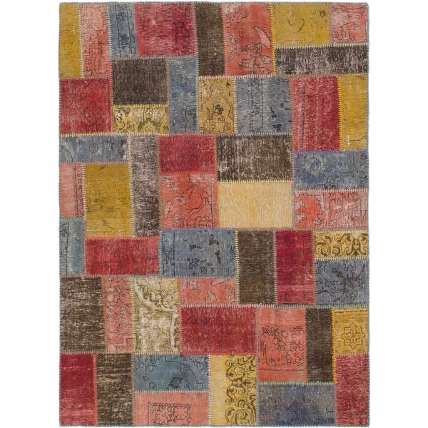 Hand Knotted Ultra Vintage Wool Area Rug - 5' 4 x 7' 3