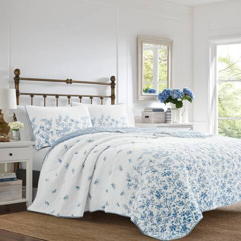 Laura Ashley Flora Quilt Set