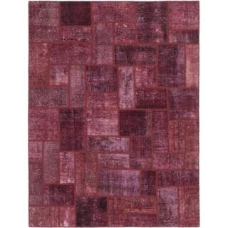 Hand Knotted Ultra Vintage Wool Square Rug - 5' 2 x 5' 7