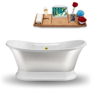 """60"""" Streamline N960GLD  Freestanding Tub and Tray With External Drain"""
