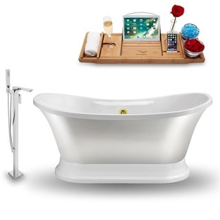 """Tub, Faucet and Tray Set Streamline 60""""  Freestanding NH960GLD-140"""