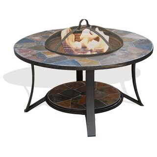 Deeco Consumer Products Arizona Sands Stone/Iron Fire Pit Table
