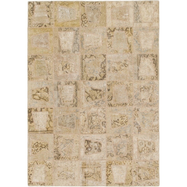 Hand Knotted Ultra Vintage Wool Area Rug - 5' x 7'