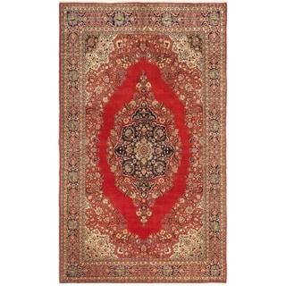 ECARPETGALLERY  Hand-knotted Hereke Dark Copper Wool Rug - 6'8 x 11'2