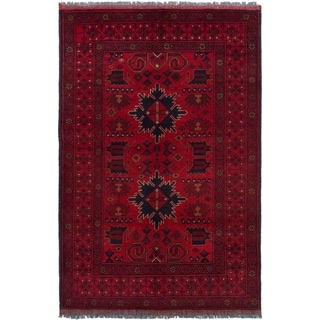 ECARPETGALLERY  Hand-knotted Finest Khal Mohammadi Red Wool Rug - 3'3 x 5'1