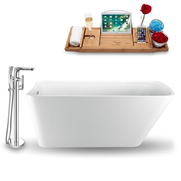 "Tub, Faucet and Tray Set Streamline 70"" Freestanding NH1200-120"