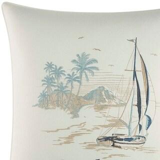 Tommy Bahama La Prisma Stripe Embroidered Sails Throw Pillow