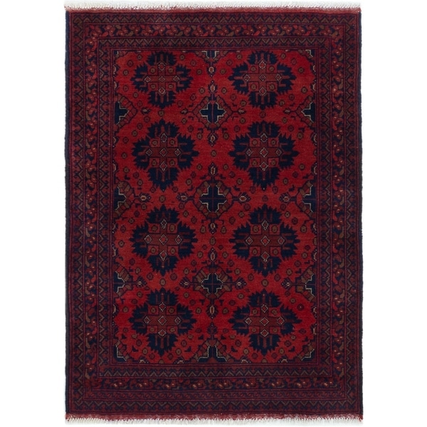 ECARPETGALLERY Hand-knotted Finest Khal Mohammadi Dark Copper Wool Rug - 3'5 x 4'9
