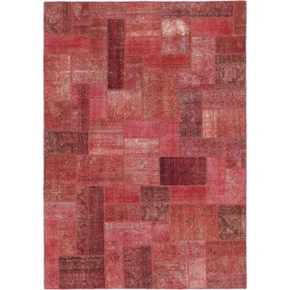 Hand Knotted Ultra Vintage Wool Area Rug - 5' 8 x 8'