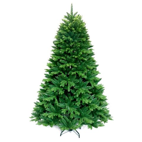 ALEKO Ultra Lush Traditional 8 Foot Artificial Indoor Christmas Holiday Tree