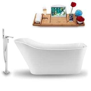 """Tub, Faucet and Tray Set Streamline 70""""  Freestanding NH1340-140"""