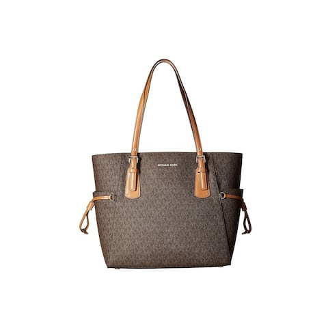 8dd0ca7c0cf7 Michael Kors Voyager East West Signature Tote Brown
