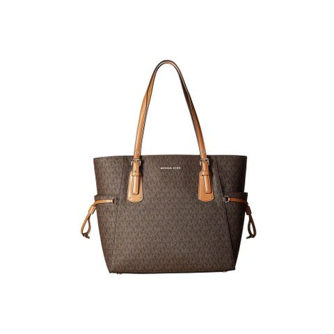 Michael Kors Voyager East West Signature Tote Brown