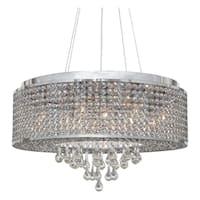 Heaven 7 Light Suspension Chrome Crystal Chandelier XL