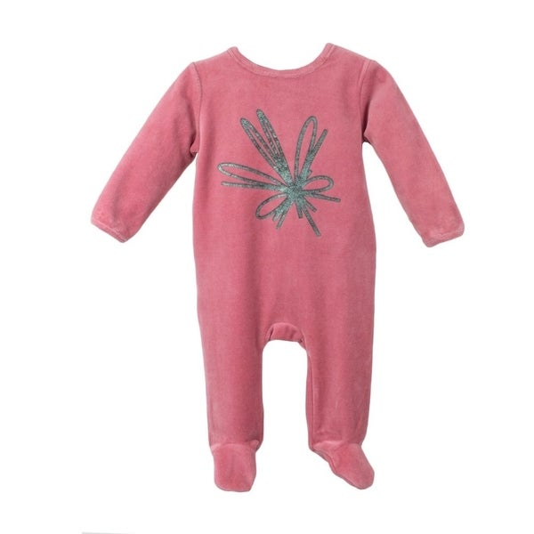 Baby Clothes Bow design Sleep N Play Footie Coverall Romper Boy or Girl Unisex Long Sleeve