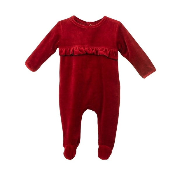 69ae7709a5414 Baby Clothes Ruffle Sleep N Play Footie Coverall Romper Boy or Girl Unisex  Long Sleeve