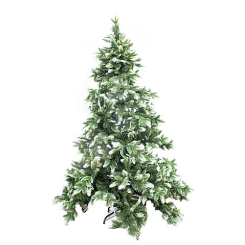 ALEKO Artificial Christmas Tree with Snow Dusted Tips 5 Foot