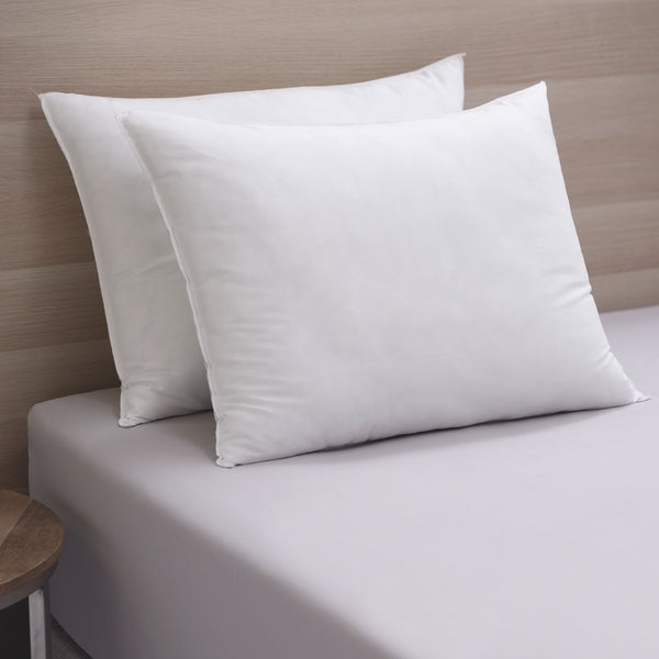 Cozy Classics Lofty Comfort Down Alternative Pillow (Set of 2) - White. Opens flyout.