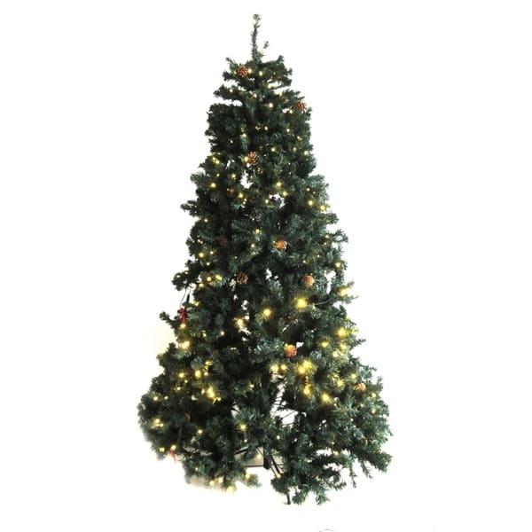 sale retailer ef30a 48d59 ALEKO Pre-Lit Artificial Christmas Tree with Pine Cones 8 Foot