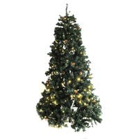 shop aleko artificial christmas holiday tree 2 39 with decorative pine cones free shipping on. Black Bedroom Furniture Sets. Home Design Ideas