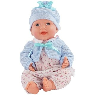 Battery Operated Talking Baby Doll Toy, Soft Rubber Doll, Adorable Toy Baby for Girls