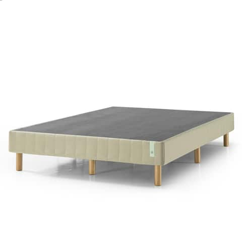 Priage by Zinus 14 inch Quick Snap Standing Mattress Foundation with Beige cover