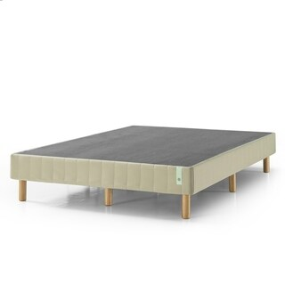 Priage 14in Quick Snap Standing Mattress Foundation with Beige cover