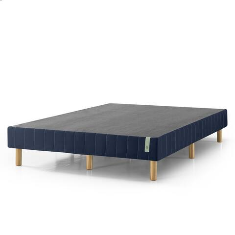 Priage by Zinus 14in Quick Snap Standing Mattress Foundation with Navy cover