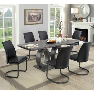 Strick & Bolton  Chano Contemporary 7-piece Pedestal Dining Set