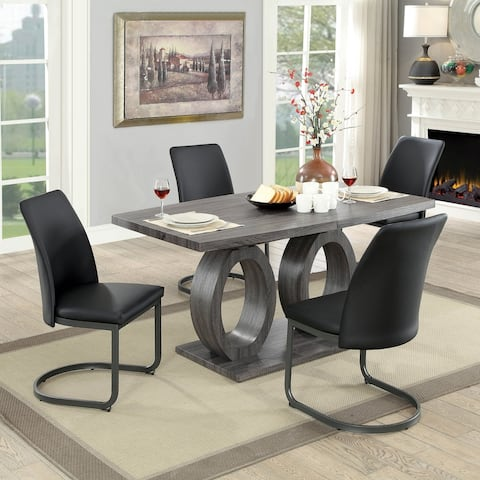 Strick & Bolton Chano Grey Contemporary 75-inch Expandable Dining Table