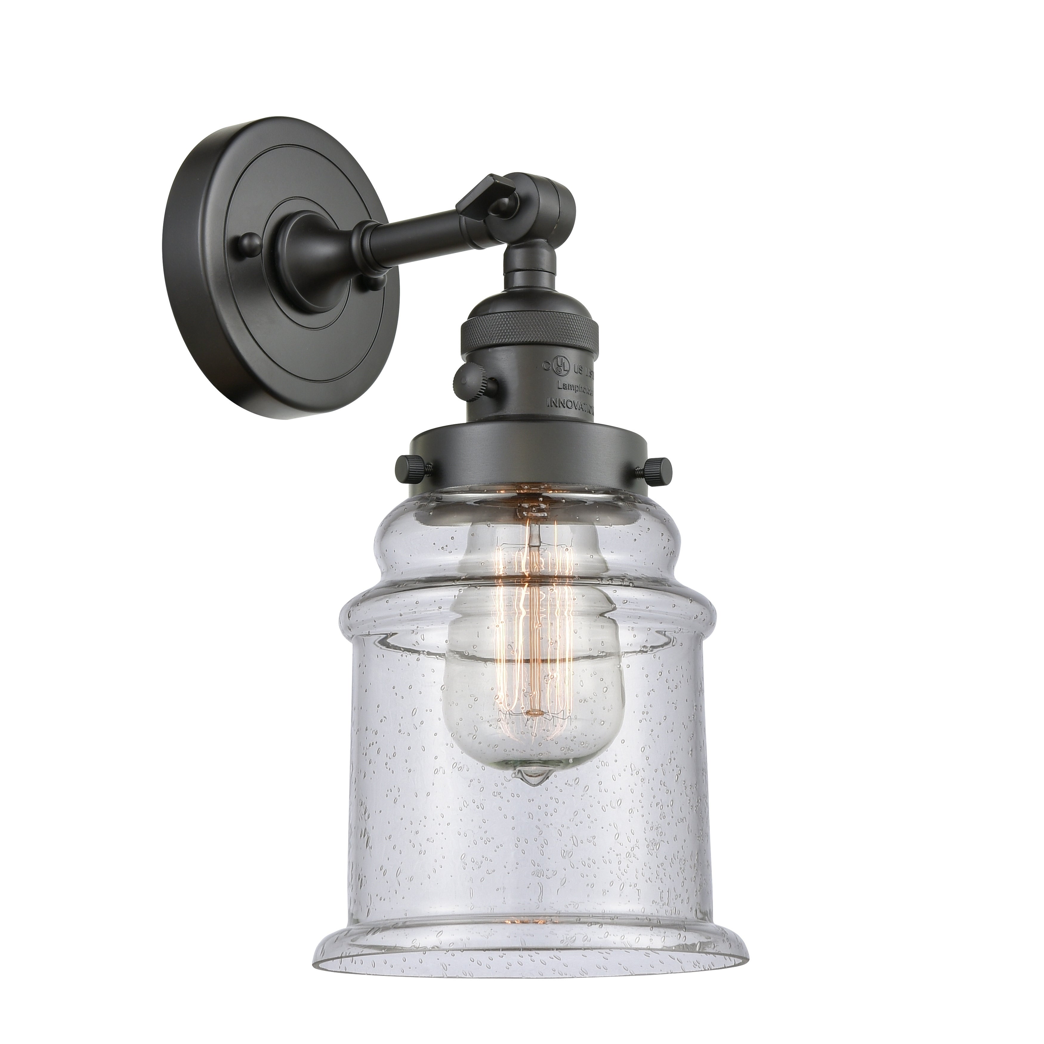 Innovations Lighting Canton 1 Light Sconce With Switch