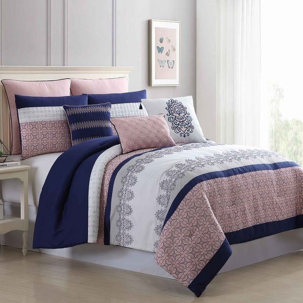 Amrapur Overseas 8-Piece Embroidered Tasha Comforter Set