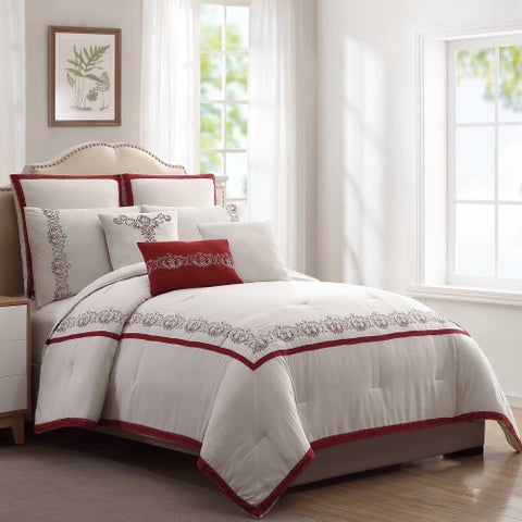 Amrapur Overseas 8-Piece Charming Paisley Comforter Set