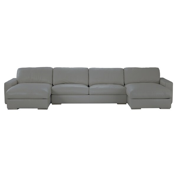 8d6dae25f615 Shop Made to Order Roche Studio Logan Leather Sectional Sofa Grey ...