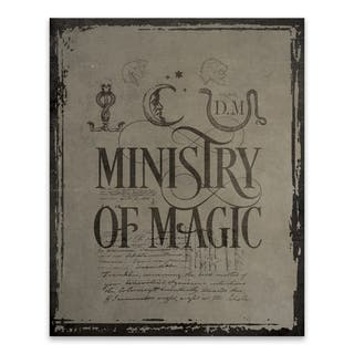 "Harry Potter ""Ministry of Magic"" Printed Canvas - 16W x 20H x 1.25D - Multi-color"