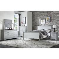ACME Louis Philippe Queen Bed in Platinum