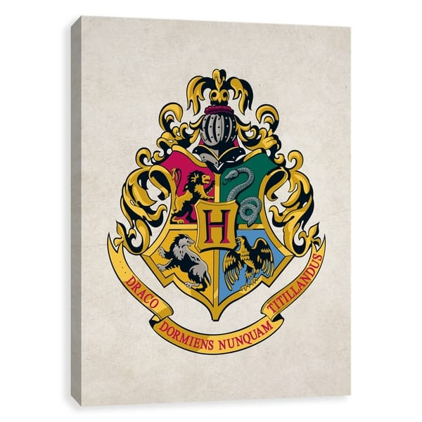 Shop Harry Potter Hogwarts Crest Printed Canvas 16w X 20h X