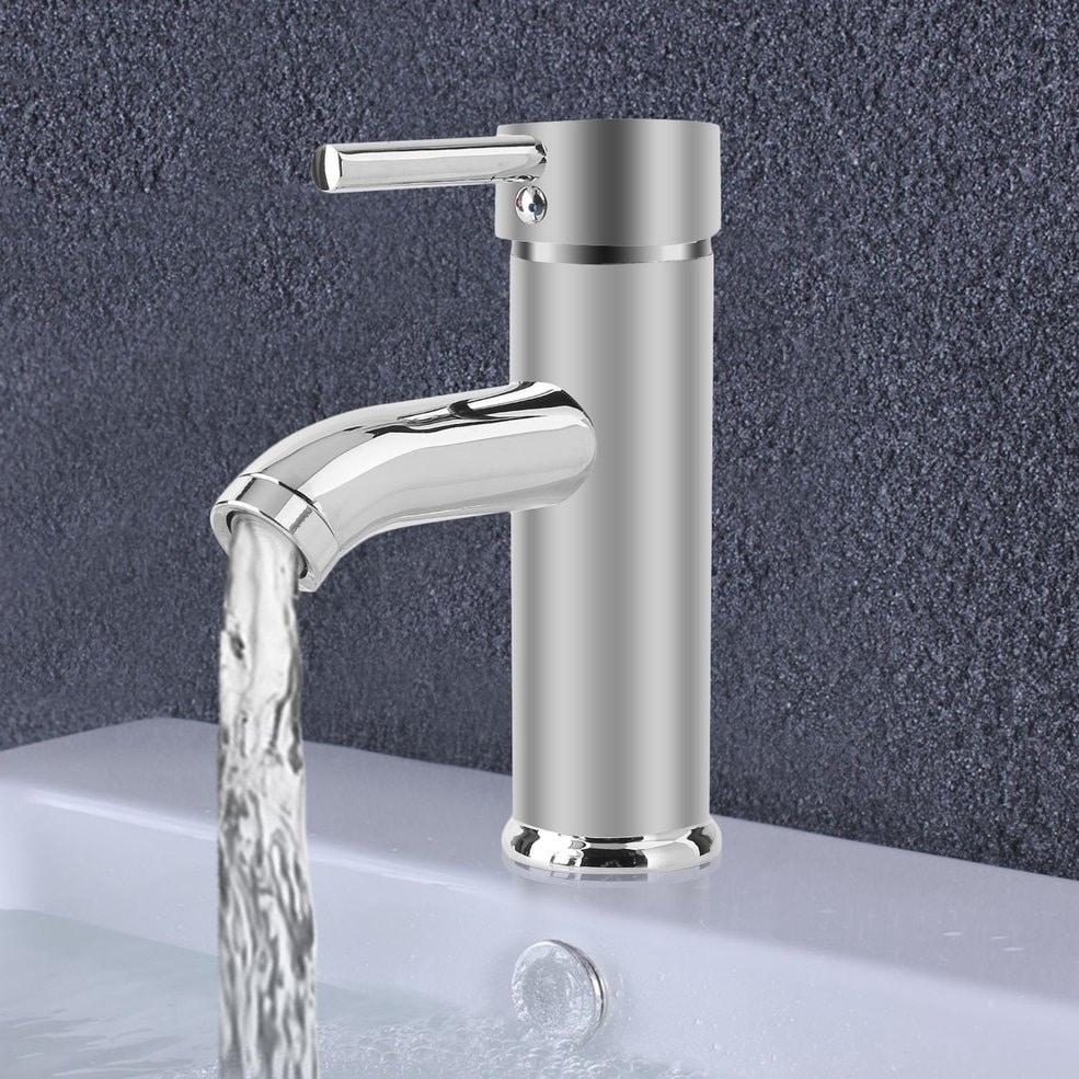 Brass Chrome Waterfall Bathroom Vanity Basin Mixer Cute Tap Single Hole Faucet
